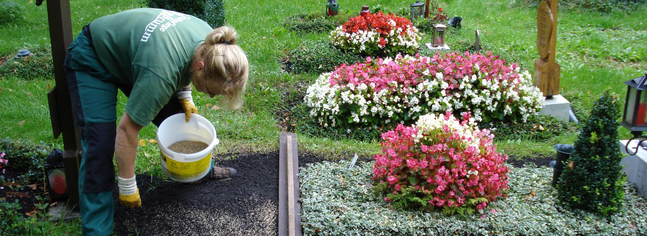 Grabanlage Neuanlage provisorisches Grab Grabpflege Michael Brumm München