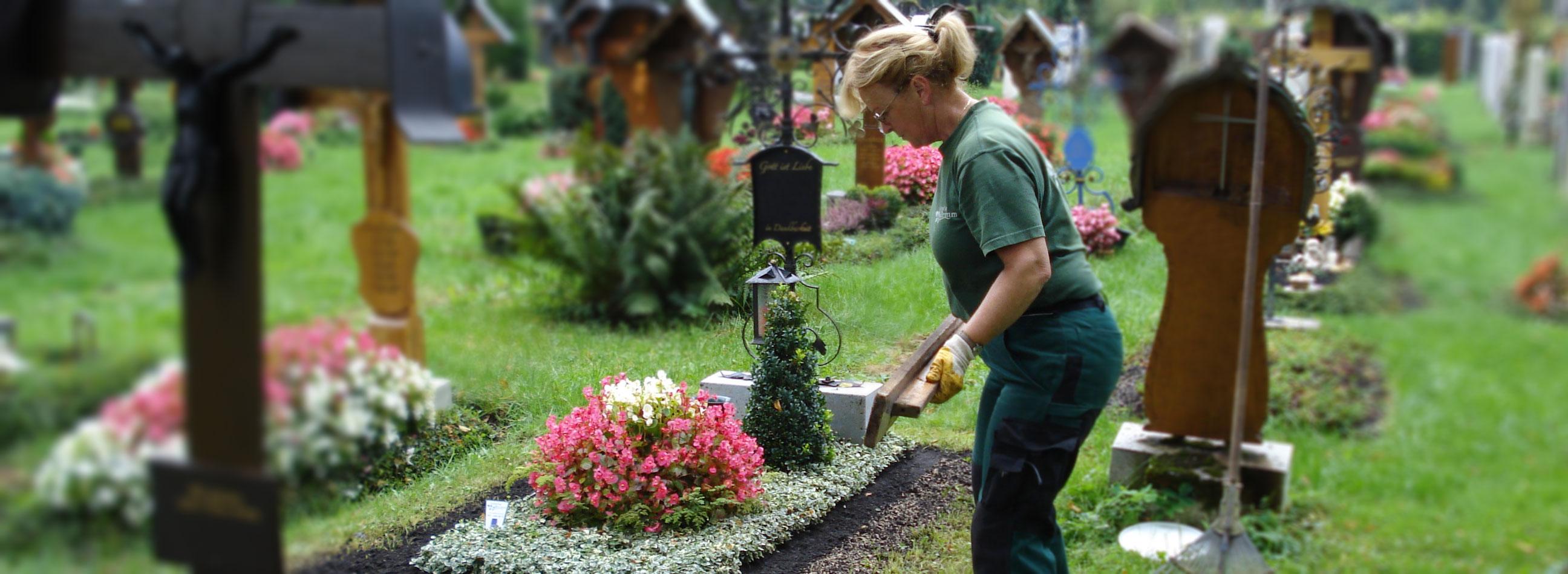 Allegemeine Grabpflege und Grabneuanlage Michael Brumm München
