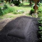 Provisorischer Huegel auf dem Waldfriedhof in München Alter Teil